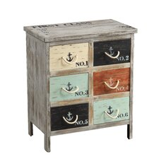 6 Drawer Accent Chest