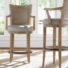 "Monterey Sands 24.5"" Swivel Bar Stool with Cushion"