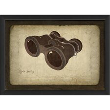 Binoculars Framed Graphic Art