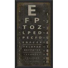 Eye Chart Framed Textual Art