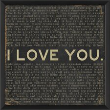 I Love You Framed Textual Art