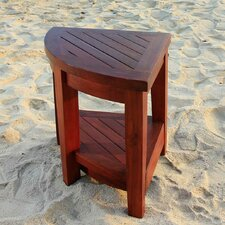Classic Teak Outdoor Corner Shelf or Teak Small Corner Table