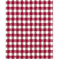 "56.5"" x 60 Red Gingham Unsupported Vinyl (Set of 60)"