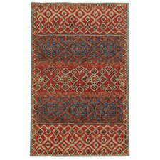 Tommy Bahama Jamison Red / Blue Geometric Rug