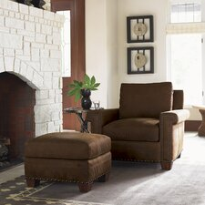 Road to Canberra Torres Leather Chair and Ottoman
