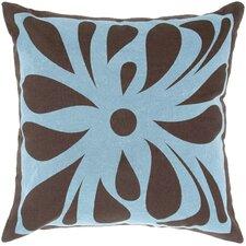 Flock Design Flowers Throw Pillow