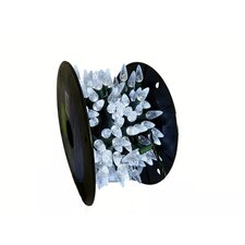 200 Commercial Length Pure White LED C6 Christmas Light String on Spool
