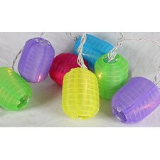 Bright and Colorful Cylinder Chinese Lantern Patio Light String