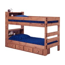 Twin Over Twin Standard Bunk Bed and Bookcase