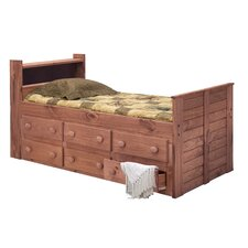 Twin Captain Bed with 6 Drawers and Bookcase