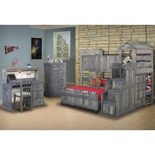Twin Over Full L-Shaped Bunk Bed Customizable Bedroom Set