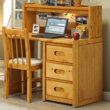 "40"" W Writing Desk with Optional Hutch"