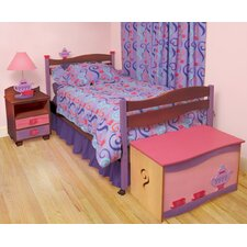 Girl Teaset Twin Slat Customizable Bedroom Set