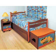 Boys Like Trucks Twin Slat Customizable Bedroom Set