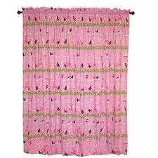 Poodles in Paris Cotton Rod Pocket Curtain Panels (Set of 2)