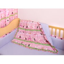Poodles in Paris 3 Piece Crib Bedding Set