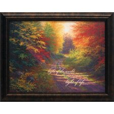 I Am the Light of the World Framed Painting Print