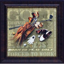Golf Forced to Work Framed Graphic Art
