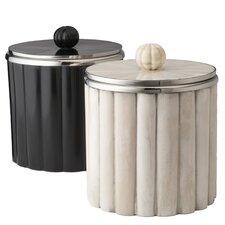 Rod Pattern Ice Bucket in Black