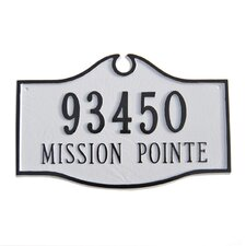 Estate Colonial Address Plaque