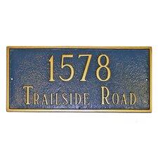 Classic Large Rectangle Address Plaque