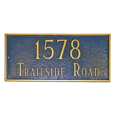 Estate Classic Rectangle Address Plaque
