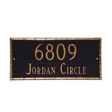 Washington Rectangle Address Plaque