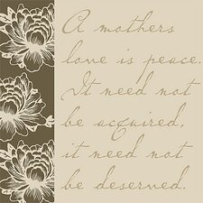 A Mothers Love Is... Mothers Textual Art on Canvas