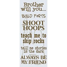 Brother Will You Kids Canvas Art