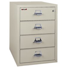 Fireproof 4-Drawer Card, Check and Note Vertical File