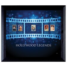 Hollywood Legends Wall Framed Vintage Advertisement with Stamps in Black