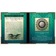 Obsolete American Silver Coin Seated Liberty Silver Quarter Wall Framed Memorabilia