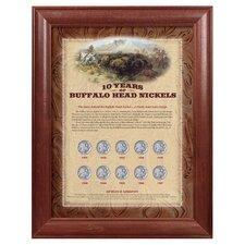 10 Years of Buffalo Nickels Wall Framed Memorabilia