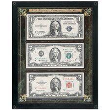 Historic U.S. Currency Wall Framed Memorabilia