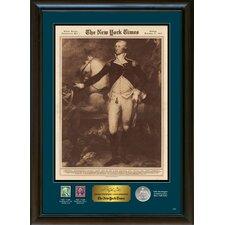 New York Times George Washington Commemorative Wall Framed Memorabilia