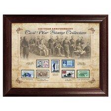 150 Year Anniversary Civil War Stamp Framed Memorabilia