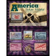 America Takes Flight Stamp Framed Memorabilia