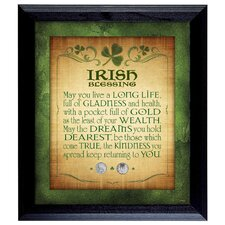 Irish Blessing with 2 Three Pence Wall Framed Textual Art