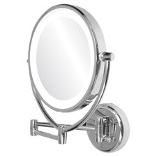 Dual Side Lighted Round Mirror