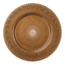 "13"" Tulip Glass Charger Plate"
