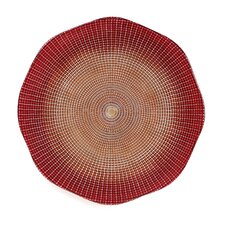 "13"" Eternity Glass Charger Plate"