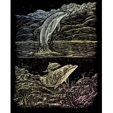 Holographic Dolphin Cove Art Engraving (Set of 2)