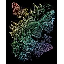 Rainbow Butterflies Art Engraving (Set of 2)