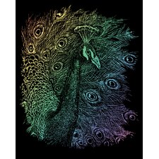 Rainbow Peacock Art Engraving (Set of 2)
