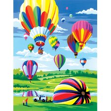 Painting by Numbers Small Hot Air Balloon Junior  Set (Set of 3)