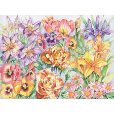 Colored Pencil By Numbers Gift Set Floral Montage Colored Pencil