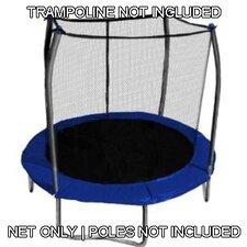 8' Round Trampoline Net Using 2-4 Arches