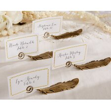 Gilded Feather Place Card Holder (Set of 24)