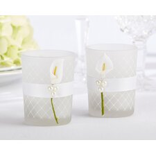 Lovely Lily Calla Lily Tealight Holder (Set of 16)