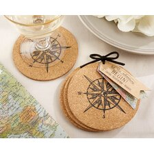 Let the Journey Begin Cork Coaster (Set of 60)